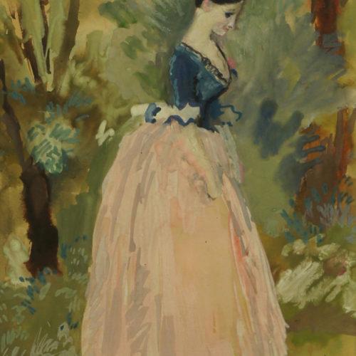 Tatyana Larina in the park